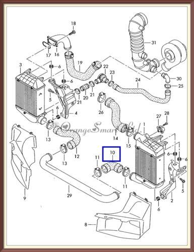 AUDI A4 01-08 1.8 QUATTRO TURBO INTERCOOLER TUBO TUBO FLESSIBILE ARIA 8e0145834f 8e0145834al