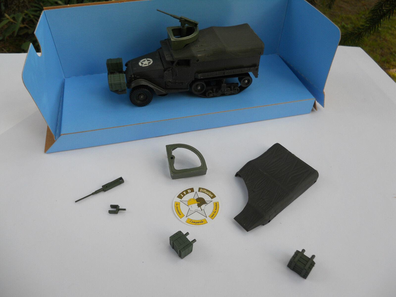 SOLIDO MILITARY HALF TRACK M3 TURRET 12,7 mm + ACCESSORIES NEW BOX VEREM
