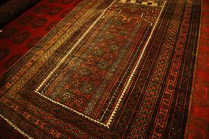 COLLECTORS-039-PIECE-Antique-Madad-Khani-Very-Tight-knots-Ziarat-Tribal-Prayer-Rug