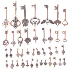 20PCS-vintage-mixte-Cle-Forme-Alliage-Pendentif-Charme-Jewelry-Making-A-faire-soi-meme-Craft