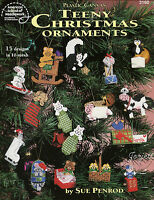 Teeny Christmas Ornaments 15 Designs In 10-mesh Plastic Canvas Patterns