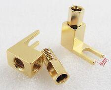 10pcs Gold Plated Copper Spade Banana Fork plug Mcintosh Amp Eico tube Adapters