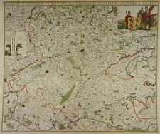 HENNEGAU HAINAUT BELGIEN TOURNAI MONS CAMBRAI KARTE DE WIT 1680 CARTE H65