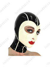 128 Latex Rubber Gummi Strips Cross Mask Hood customized catsuit cool 0.4mm suit