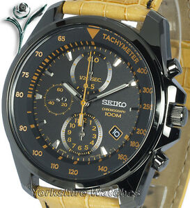 SEIKO-ION-BLACK-CHRONO-With-TAN-LEATHER-BUCKLE-STRAP-SNDD69P1