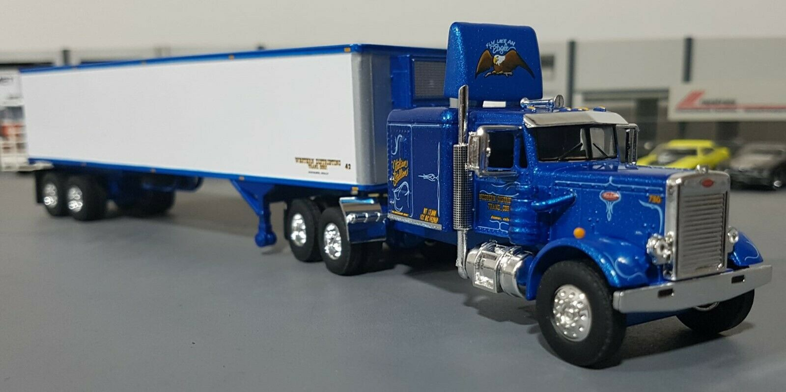 1 64 WESTERN PETERBILT AND TRAILER  DIECAST MADE BY FIRST GEAR DIECAST NEW BOXED