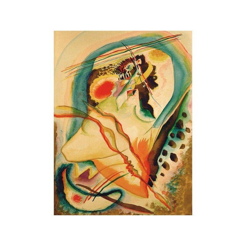 Quadro Quadro Quadro su Pannello in Legno MDF Wassily Kandinsky Untitled composition   La Reine De La Qualité  5158d6