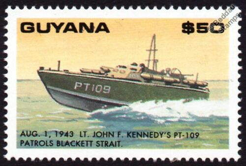 WWII-1943-John-F-Kennedy-PT-109-Patrol-Torpedo-Boat-Attack-Craft-Warship-Stamp