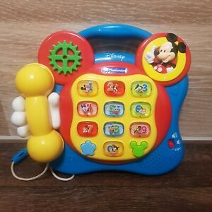 DISNEY-MICKEY-MOUSE-MUSICAL-LEARNING-PHONE-TOY-BY-CLEMENTONI