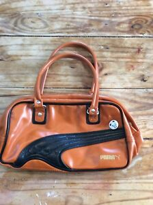 9aa858794 Image is loading Puma-Foundation-Purse-Handbag-brown-Faux-Leather-sporty