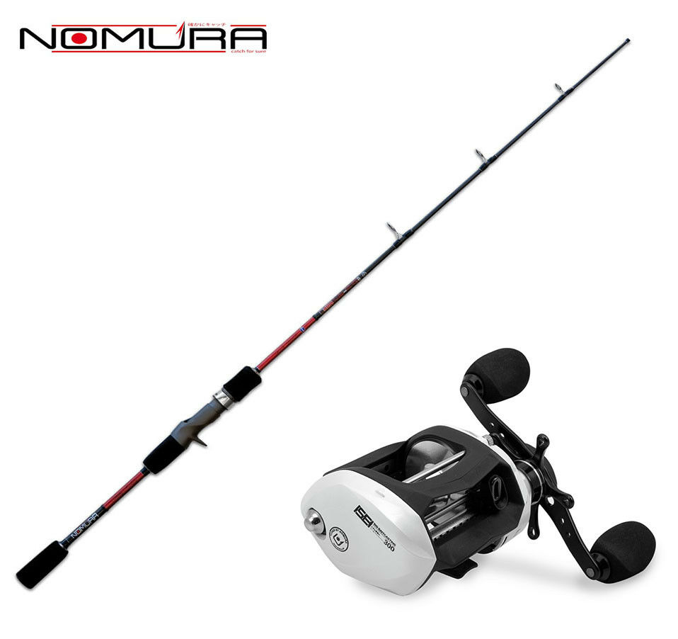 KP3045 Kit Spinning Canna Nomura Hiro Slow Pitch Casting + Mulinello Nomura PP