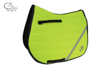HY-Speed-Hi-Viz-Vis-Yellow-Dressage-GP-Saddlecloth-Pad-Square-Colours-FREE-P-amp-P