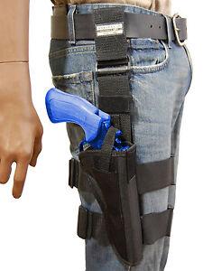 NEW-Barsony-Tactical-Leg-Holster-for-6-034-Colt-38-357-41-44-Revolvers