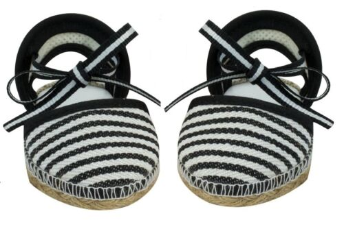 Baby 15 18 inch Doll Shoes Clothes Black Espadrilles Sandals for American Girl
