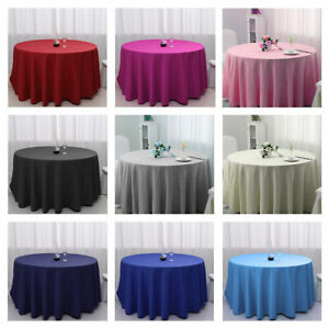 48-inch-Round-Tablecloth-Weeding-Banquet-Table-Cover-Polyester-Fiber-Solid-Cloth