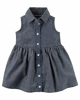 new NWT CARTER/'S girls 100/% Cotton Embroidered Dress /& Diaper Cover sz 6 mos