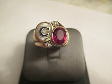 ESTATE 10K Gold Initial C Men's Ring 7.80 Grams 16 MM Wide Size 10