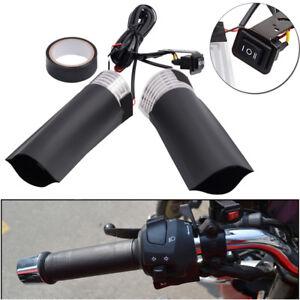 Heizgriffe-Griffheizung-Motorrad-Lenkergriffe-Elektrische-Griffe-12V-ATV-Black