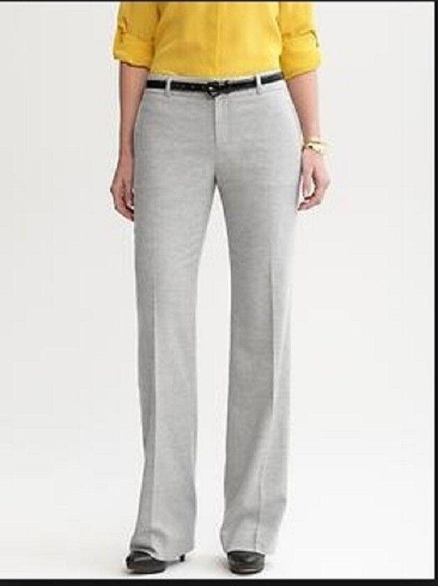 NWT Banana Republic Women Martin Fit Trouser Pants Light Grey Lined sz 10 Petite