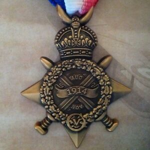 WWI-Mons-Star-With-Clasp-5th-Aug-22nd-Nov-1914