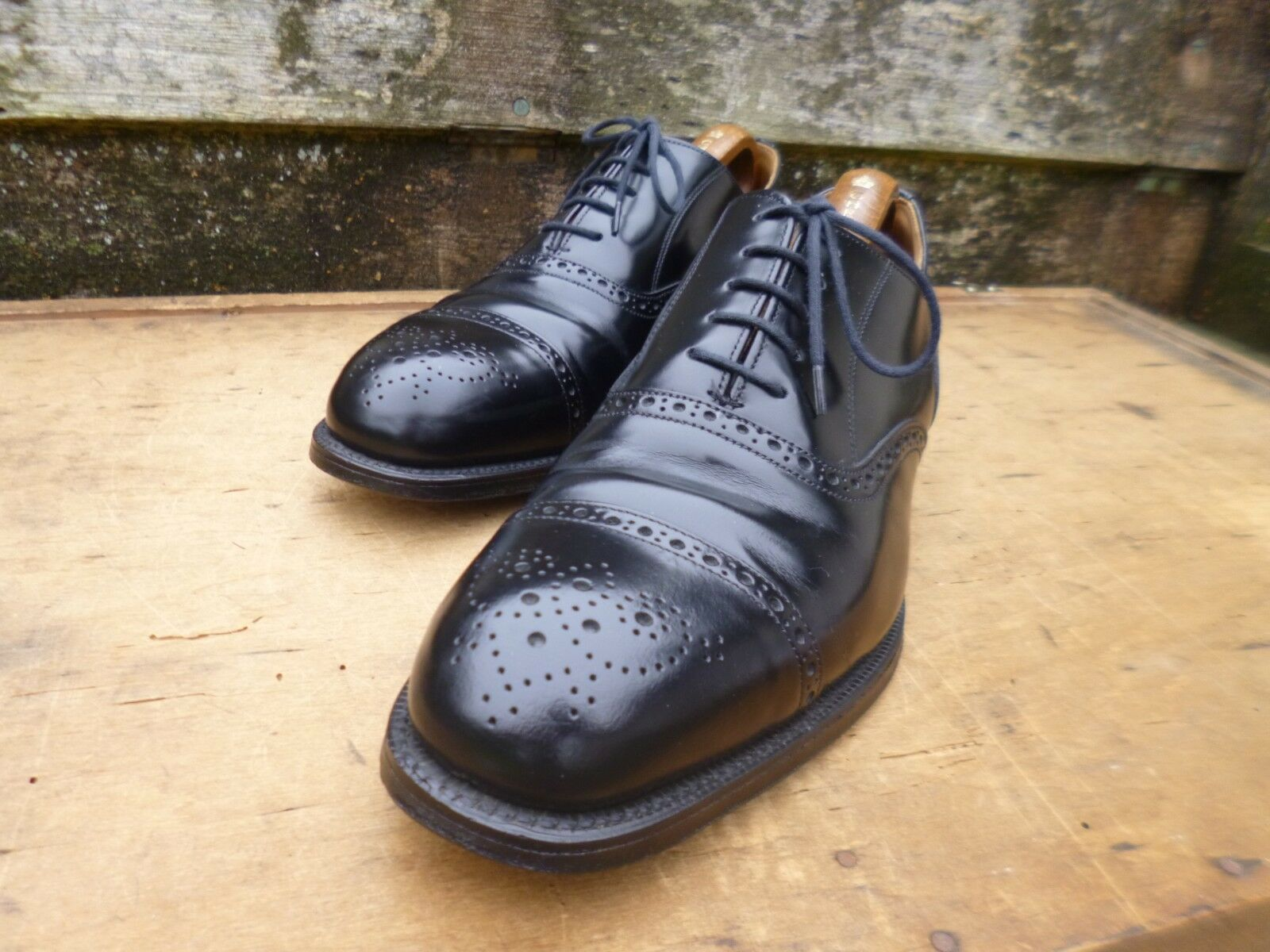 CHEANEY Oxford Chaussures-Noir-UK 9 – NEVIS – Excellent état