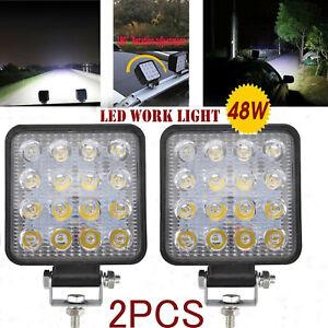 12V 48W Car LED Work Spot Lights Spotlight Lamp Van ATV Offroad SUV Truck