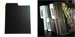 100-x-CD-Dividers-50-White-amp-50-Black-Index-your-collection