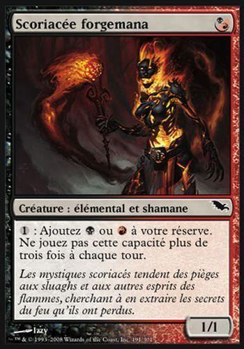 ▼▲▼4x Scoriacée forgemana (Manaforge Cinder) SOMBRELANDE #191 FRENCH  Magic