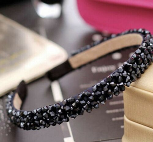Navy Crystal Bling Sparkle Hair Head Band Wedding Party Festival Boho Boutique