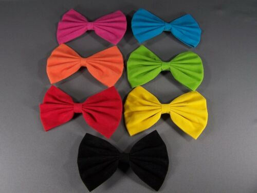 "Green faux suede big Huge BOW 6/"" wide barrette hair clip cosplay anime kawaii"