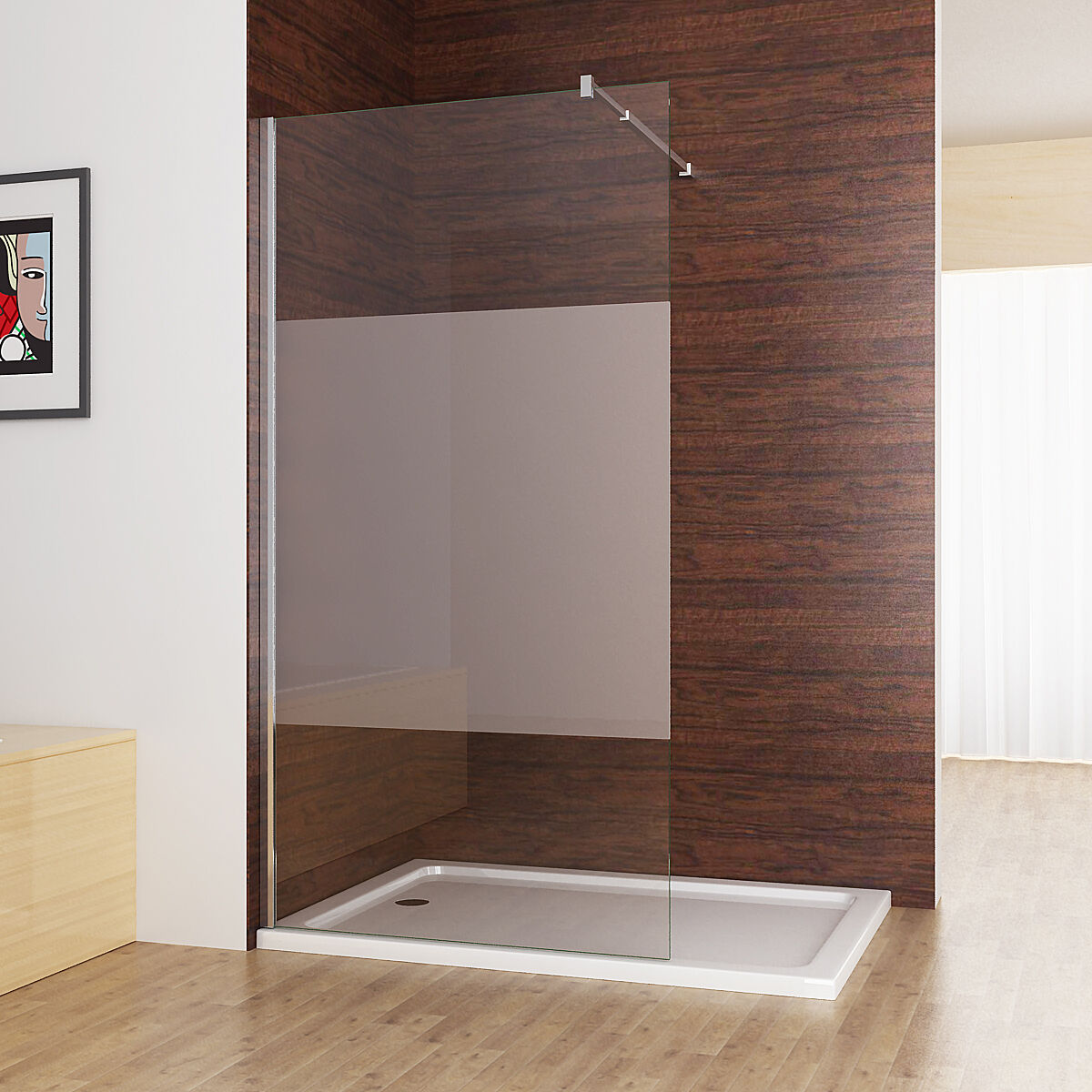 walkin dusche duschabtrennung duschwand 10mm nano. Black Bedroom Furniture Sets. Home Design Ideas