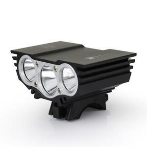 CREE-U2-X3-XML-Front-MTB-Bicycle-Bike-Light-Lamp-w-Mount-Battery-Charger-Black