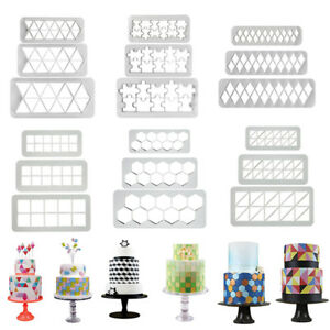 3Pcs-3D-Square-Diamond-Cake-Decor-Fondant-Mold-Geometric-Biscuits-Cookie-Cutter