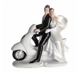 Casablanca Hochzeitspaar auf Roller