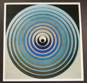 """Victor Vasarely """"0771-Oervegn"""" Mounted Offset Color Lithograph 1971"""