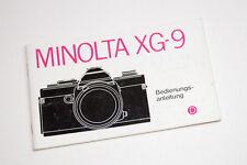 Minolta XG-9 Bedienungsanleitung Gebrauchsanweisung  006