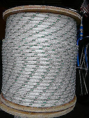 "Dacron Sailboat Rope 1//4/"" x 50/' White//Red NovaTech XLE Halyard Sheet Line"