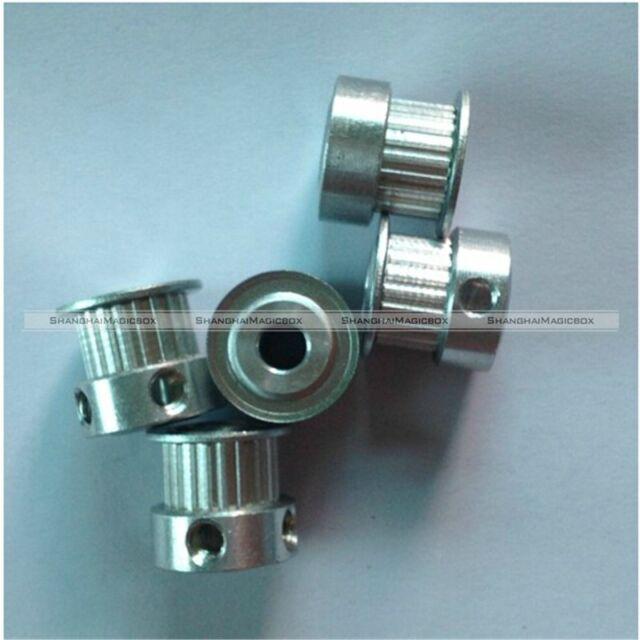 5 Pcs GT2 20 Tooth 5mm Bore Aluminum Timing Belt Pulley For 3D Printer CNC