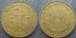 Complexé West African States # 5 Francs 1976 Facile à RéParer