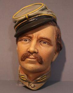 Vintage-Bosson-Civil-War-034-Infantry-Officer-034-Chalkware-Head-1986-England