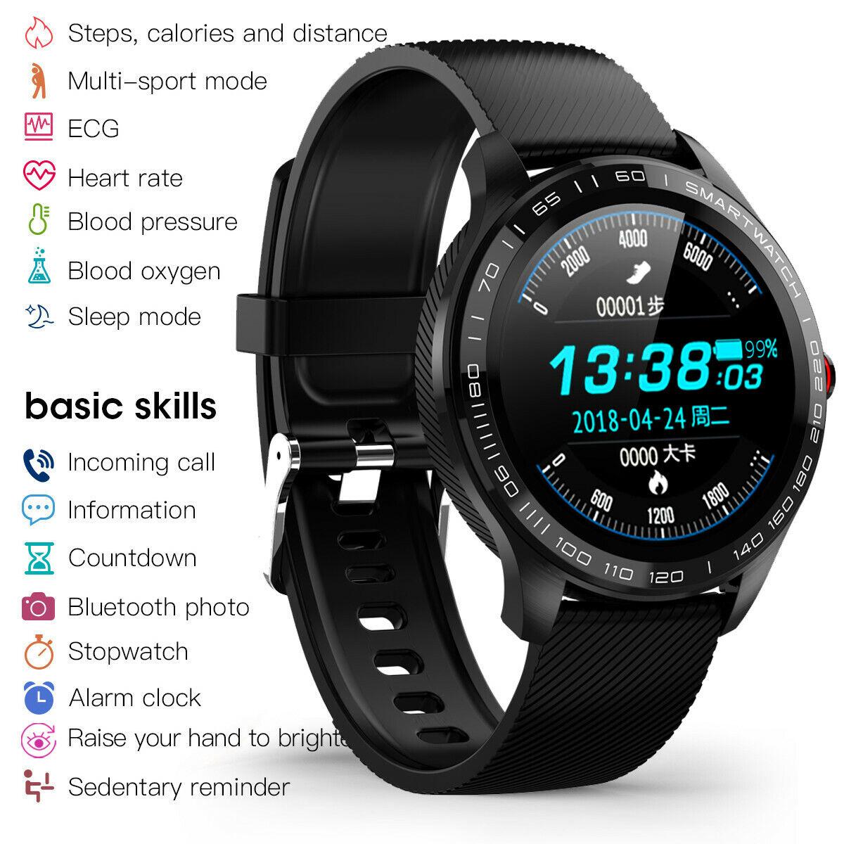 ECG PPG Smart Watch Men Heart Rate Monitor Bluetooth Smartwatch Waterproof Band bluetooth ecg Featured heart men monitor ppg rate smart smartwatch watch