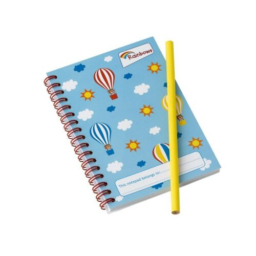 RAINBOW NOTEPAD AND PENCIL BALLOON DESIGN RAINBOW UNIFORM OFFICIAL NEW