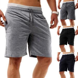 Mens-Elastic-Waist-Casual-Jogger-Shorts-Pants-Gym-Sport-Bottom-Trouser-Beachwear