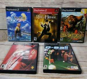 Lot-of-5-Playstation-2-PS2-Games-Tested-Final-Fantasy-X-Gran-Turismo-3-A-spec