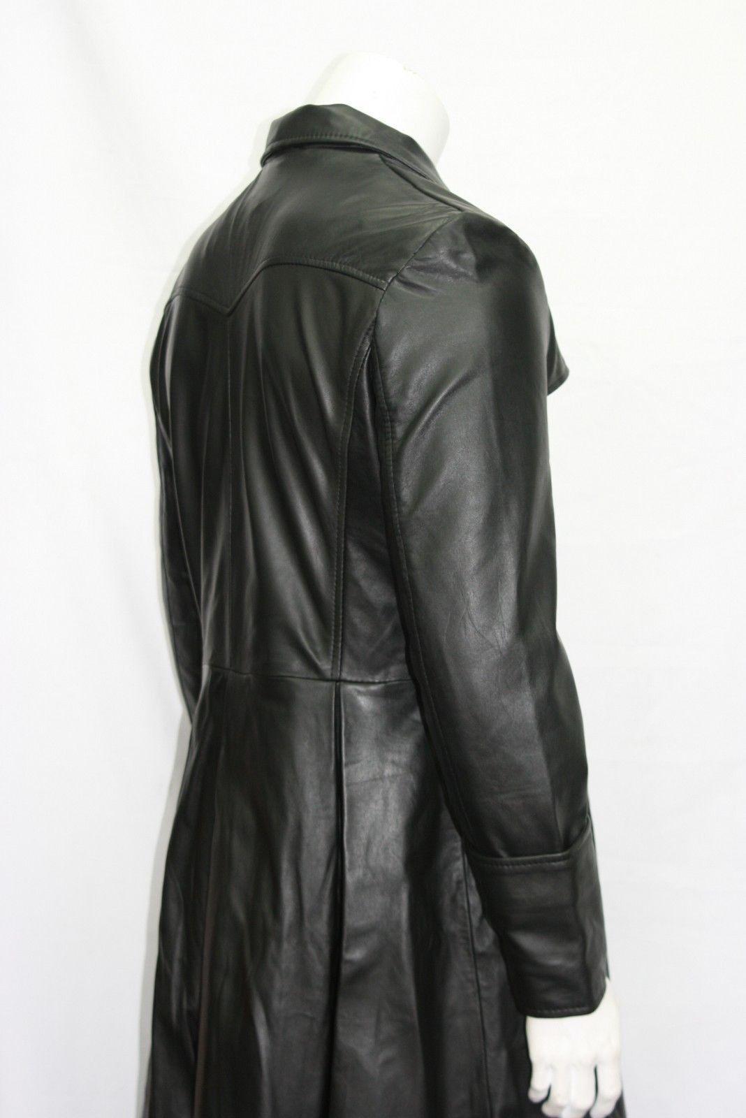 NUOVI Pantaloncini Uomo Lunghezza film Blade Lunghezza Uomo Intera Stile Su Misura Nero Vera Pelle Napa Cappotto 42bea1