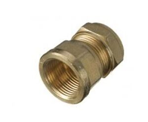"""15mm Copper Compression to 3//4/"""" Male Iron Thread Brass Straight Coupler Adaptor"""