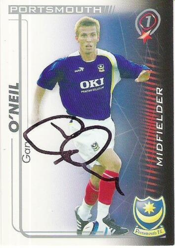A Shoot Out card Gary O'Neil at Portsmouth. Personally signed by him.