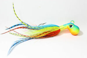 Blue-Fire-Octopus-Bucktail-Jig-Cobia-Grouper-Saltwater-SurfFishing-size-choice