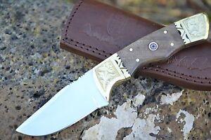 Huntex-Handmade-Japanese-D2-Steel-8-034-Hunting-Walnut-Wood-Companion-Knife
