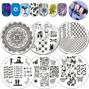 BORN-PRETTY-Nail-Stamping-Image-Plates-Nail-Art-Template-Stencils-Manicure-Tools